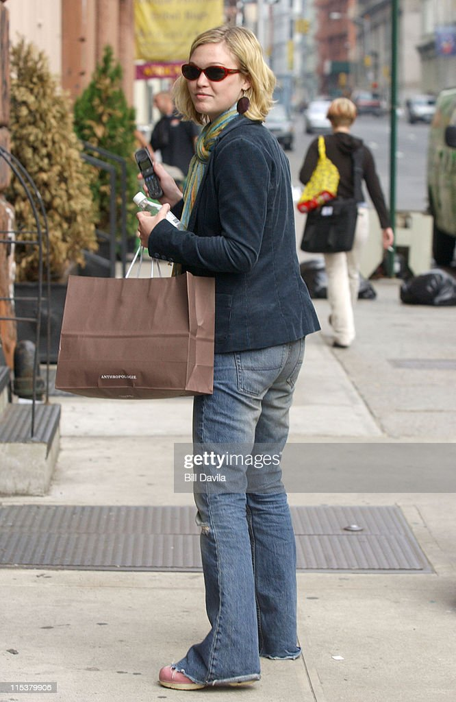 Julia Stiles during Celebrity Sightings at Soho New York in New York City New York United States