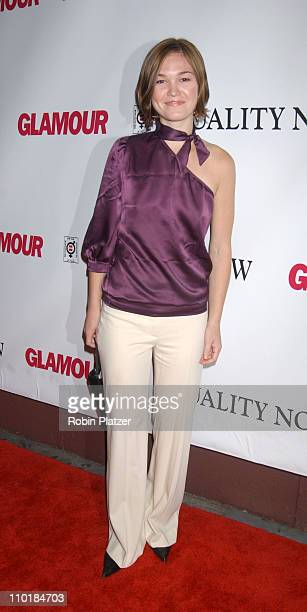 Julia Stiles during Glamour Magazine Presents Equality Now Benefit at Plaid in New York City New York United States