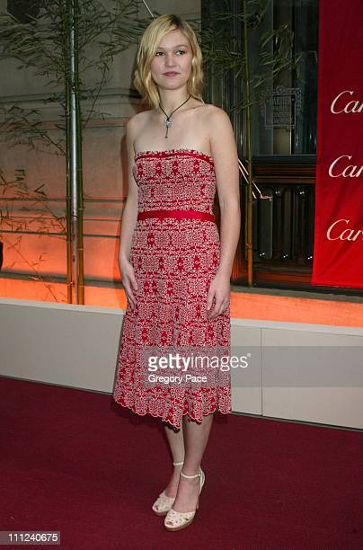Julia Stiles in Donna Karan dress during Cartier Party for Le Baiser du Dragon Honoring New Yorkers for Children at The Cartier Store in New York...