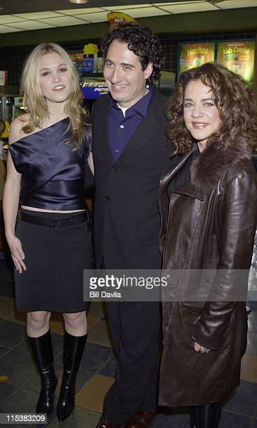 Julia Stiles Patrick Stettner and Stockard Channing attending the Premiere of 'The Business of Strangers'