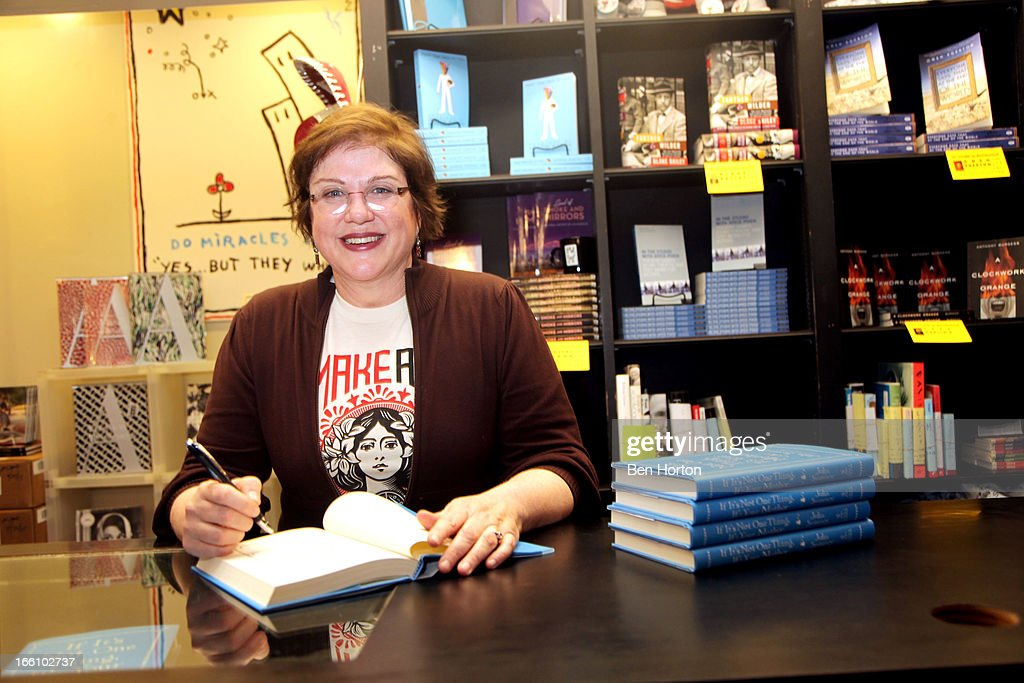 <a gi-track='captionPersonalityLinkClicked' href=/galleries/search?phrase=Julia+Sweeney&family=editorial&specificpeople=1534157 ng-click='$event.stopPropagation()'>Julia Sweeney</a> Signs Copies Of Her New Book 'If It's Not One Thing, It's Your Mother' at Book Soup on April 8, 2013 in West Hollywood, California.