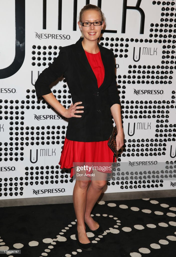 Julia Taylor arrives at the Nespresso Umilk machine launch on July 30, 2013 in Sydney, Australia.