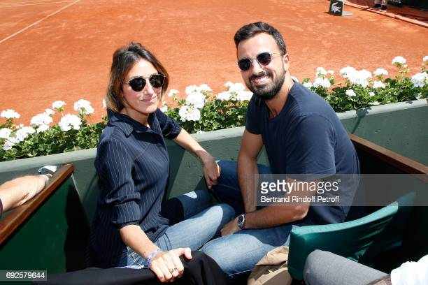 Julia Toledano and her brother Alan Toledano attend the 2017 French Tennis Open Day Height at Roland Garros on June 4 2017 in Paris France