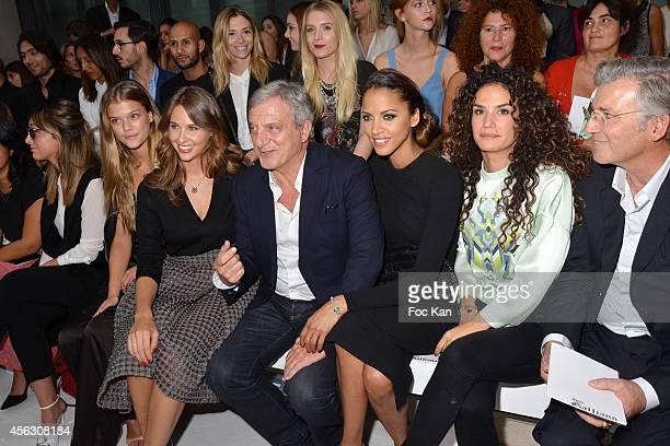 Julia Toledano Nina Agdal Ophelie Meunier Sidney Toledano and Noemie Lenoir attend the John Galliano show as part of the Paris Fashion Week...