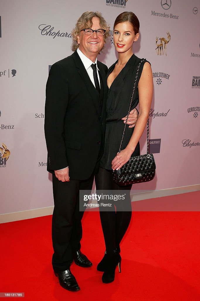 Julia Trainer and Martin Krug arrive at Tribute To Bambi at Station on October 17, 2013 in Berlin, Germany.
