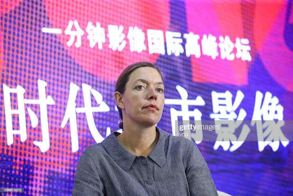 Julia van Mourik, director of The One Minutes, attends Urban Image of the Times - International Summit Forum of the 'One-Minute Film' Competition during the 22nd Shanghai TV Festival on June 8, 2016 in Shanghai, China.