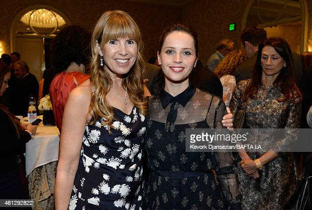 Julia Verdin and actress Felicity Jones attend the BAFTA Los Angeles Tea Party at The Four Seasons Hotel Los Angeles At Beverly Hills on January 10...