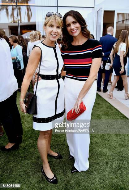 Julia Verdin and Amy Landecker attend the BBC America BAFTA Los Angeles TV Tea Party 2017 at The Beverly Hilton Hotel on September 16 2017 in Beverly...