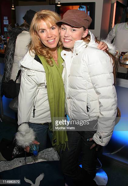 Julia Verdin and Clare Grant during 2007 Park City Philips Lounge at Village at the Lift Day 6 at Philips Lounge in Park City Utah United States