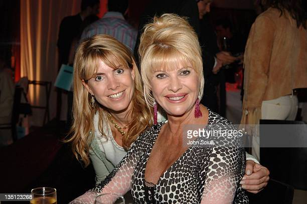 Julia Verdin and Ivana Trump during 2005 Cannes Film Festival Jana Water at Ivana Trump Party Inside in Cannes France