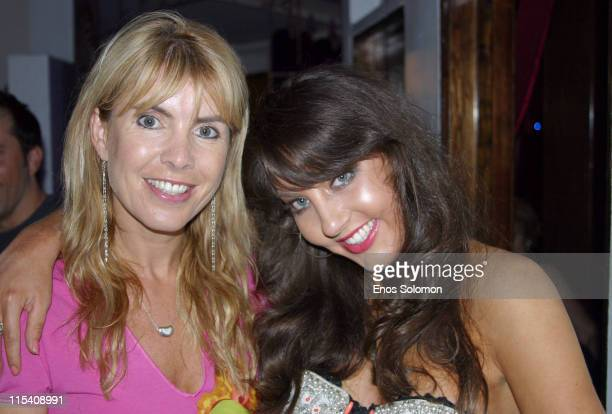 Julia Verdin and Niki Shadrow during The Launch of Fashionista Niki Shadrow's Life Style Column at Joseph's Cafe in Hollywood California United States