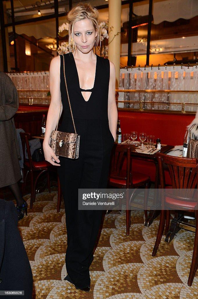 Julia Von Boehm attends the Bulgari And Purple Magazine Party at Cafe de Flore on March 3, 2013 in Paris, France.