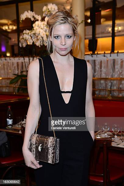 Julia Von Boehm attends the Bulgari And Purple Magazine Party at Cafe de Flore on March 3 2013 in Paris France