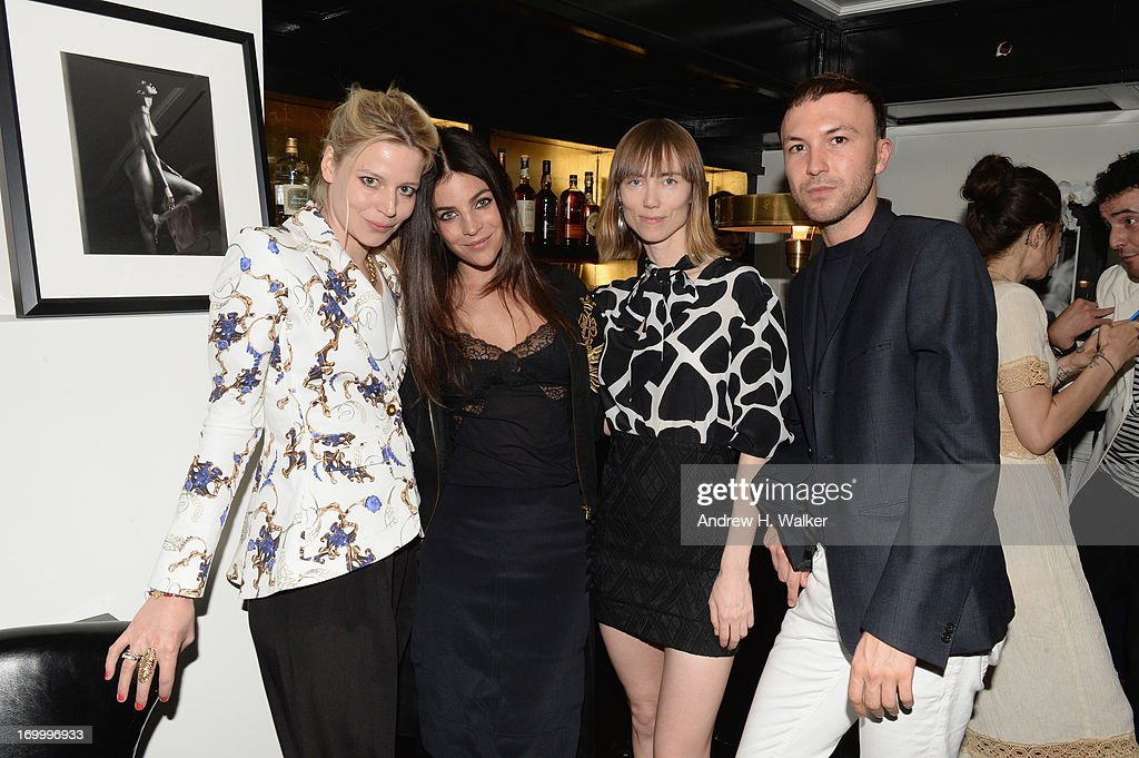 Julia Von Boehm, Julia Restoin Roitfield, Anya Ziourova, and Tom Van Dorpe attend the Casadei dinner at Omar's, hosted by Julia Restoin Roitfeld and Cesare Casadei celebrating Resort 2014 at on June 5, 2013 in New York City