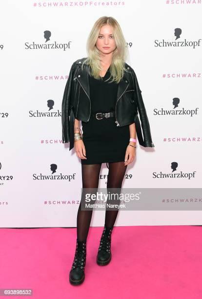 Julia Wulff attends the Schwarzkopf x Refinery29 event at Bar Babette on June 8 2017 in Berlin Germany