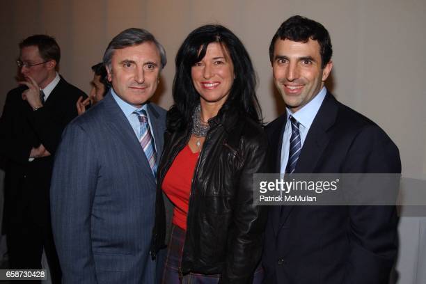 Julian and Lisa Niccolini with Giulio Capua attend Gourmet Magazine's celebration release of March 2004 New York Issue with the world's greatest...