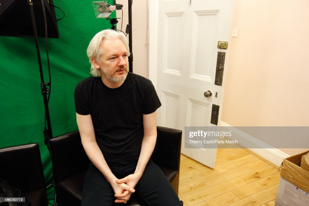<a gi-track='captionPersonalityLinkClicked' href=/galleries/search?phrase=Julian+Assange&family=editorial&specificpeople=7117000 ng-click='$event.stopPropagation()'>Julian Assange</a> the creator of WikiLeaks and refugee since June 2012 at the Embassy of Ecuador is photographed for Paris Match on March 28, 2014 in London, United Kingdom.