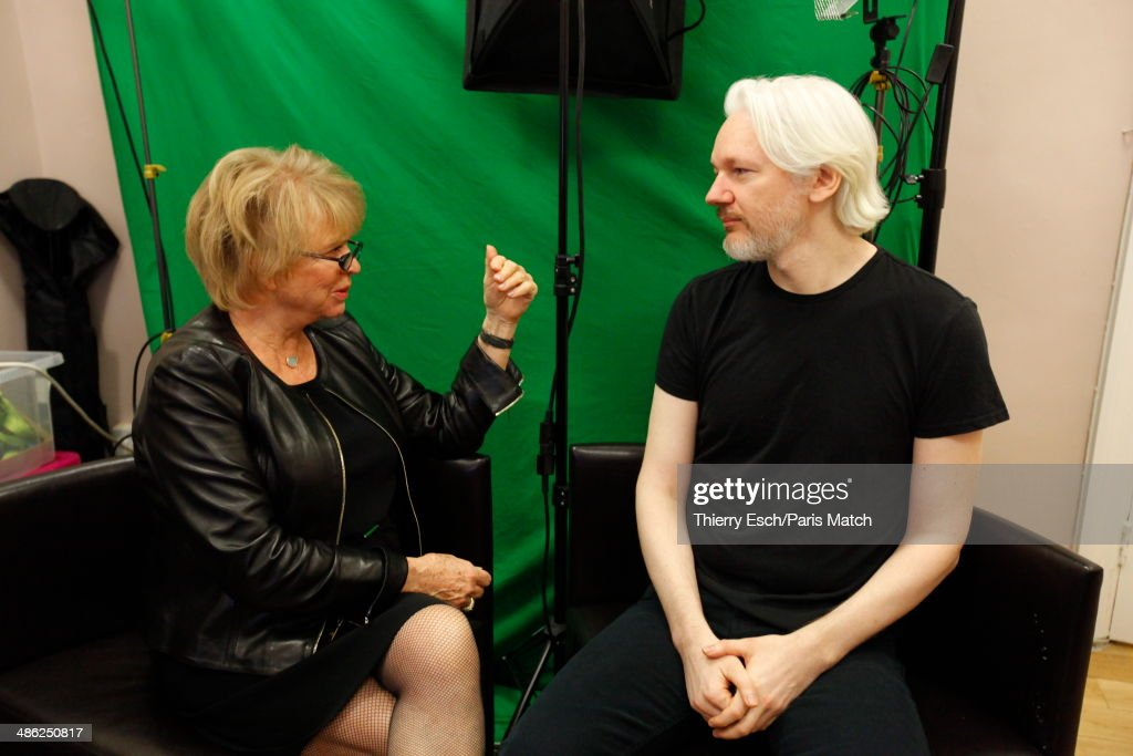 <a gi-track='captionPersonalityLinkClicked' href=/galleries/search?phrase=Julian+Assange&family=editorial&specificpeople=7117000 ng-click='$event.stopPropagation()'>Julian Assange</a> the creator of WikiLeaks and refugee since June 2012 at the Embassy of Ecuador with <a gi-track='captionPersonalityLinkClicked' href=/galleries/search?phrase=Eva+Joly&family=editorial&specificpeople=2884273 ng-click='$event.stopPropagation()'>Eva Joly</a> member of European Union are photographed for Paris Match on March 28, 2014 in London, United Kingdom.