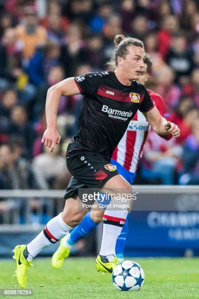 Julian Baumgartlinger of Bayer 04 Leverkusen in action during their 201617 UEFA Champions League Round of 16 second leg match between Atletico de...