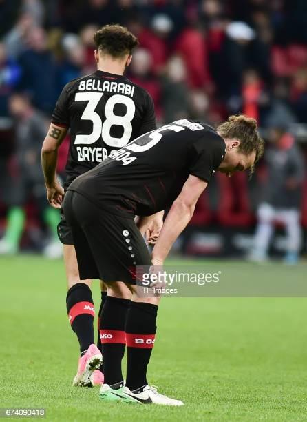 Julian Baumgartlinger of Leverkusen looks on during the Bundesliga match between Bayer 04 Leverkusen and Bayern Muenchen at BayArena on April 15 2017...