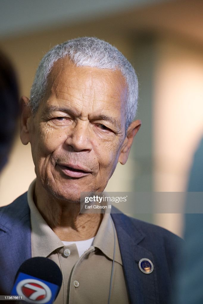<a gi-track='captionPersonalityLinkClicked' href=/galleries/search?phrase=Julian+Bond&family=editorial&specificpeople=221657 ng-click='$event.stopPropagation()'>Julian Bond</a> is intervied at the 'We Shall Not Be Moved' Symposium during the 104th NAACP Convention at Orange County Convention Center on July 16, 2013 in Orlando, Florida.