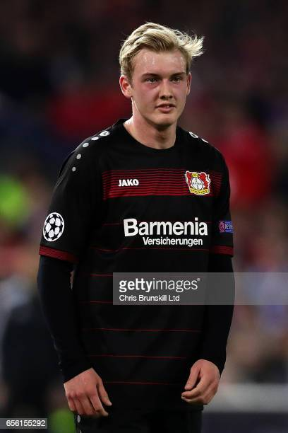 Julian Brandt of Bayer Leverkusen looks on during the UEFA Champions League Round of 16 second leg match between Club Atletico de Madrid and Bayer...