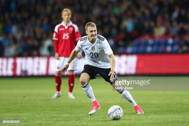 Julian Brandt of Germany controls the ball during the international friendly match between Denmark v Germany on June 6 2017 in Brondby Denmark