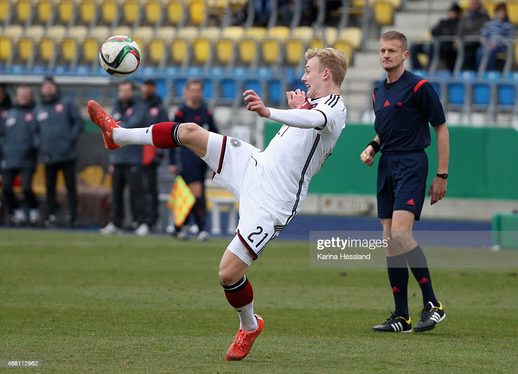 Julian Brandt of Germany during the International Friendly match between U20 Germany and U20 Poland at ErnstAbbeSportfeld on March 27 2015 in Jena...