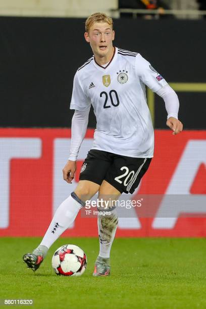 Julian Brandt of Germany in action during the FIFA 2018 World Cup Qualifier between Germany and Azerbaijan at FritzWalter Stadium on October 8 2017...