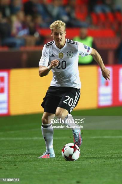 Julian Brandt of Germany runs with the ball during the FIFA World Cup Russia 2018 Group C Qualifier between Czech Republic and Germany at Eden Arena...
