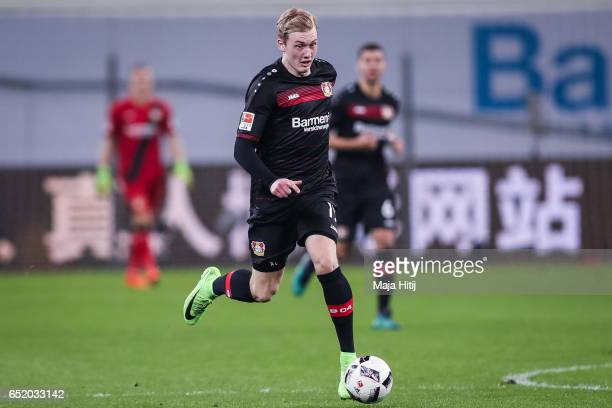 Julian Brandt of Leverkusen controls the ball during the Bundesliga match between Bayer 04 Leverkusen and Werder Bremen at BayArena on March 10 2017...