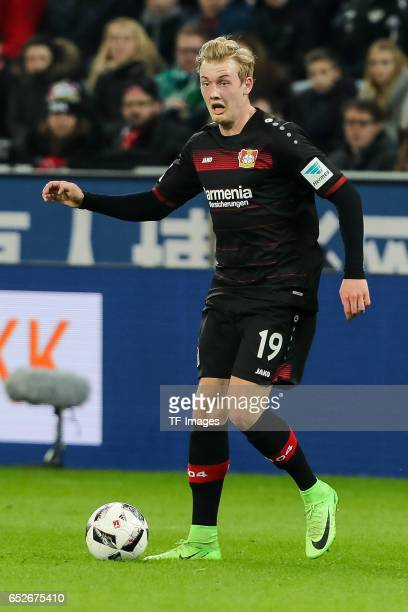 Julian Brandt of Leverkusen controls the ball during the Bundesliga soccer match between Bayer Leverkusen and Werder Bremen at the BayArena stadium...