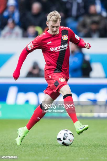 Julian Brandt of Leverkusen controls the ball during the Bundesliga match between TSG 1899 Hoffenheim and Bayer 04 Leverkusen at Wirsol...