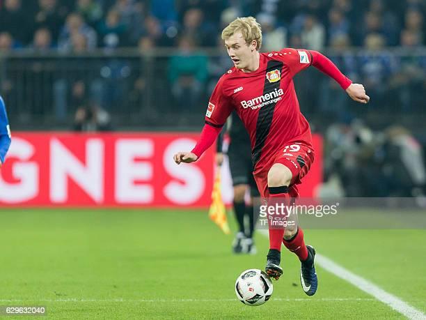 Julian Brandt of Leverkusen in action during the Bundesliga match between FC Schalke 04 and Bayer 04 Leverkusen at VeltinsArena on December 11 2016...