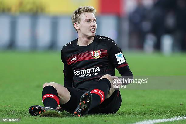 Julian Brandt of Leverkusen is seen during the Bundesliga match between 1 FC Koeln and Bayer 04 Leverkusen at RheinEnergieStadion on December 21 2016...