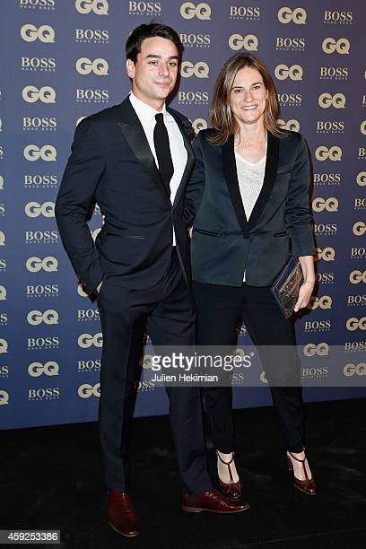 Julian Bugier and Claire Fournier attend the GQ Men Of The Year Awards 2014 at Musee d'Orsay on November 19 2014 in Paris France