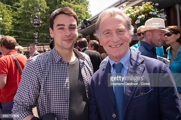 Julian Bugier and William Leymergie attend Roland Garros Tennis French Open 2013