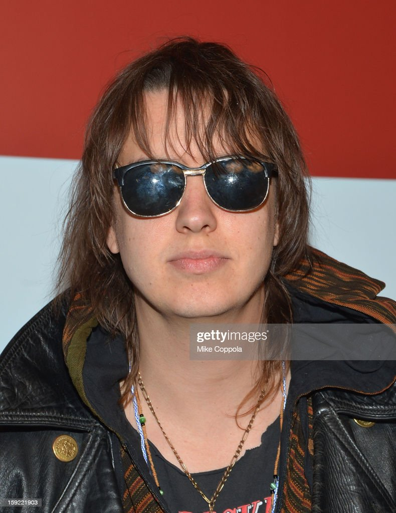 <a gi-track='captionPersonalityLinkClicked' href=/galleries/search?phrase=Julian+Casablancas&family=editorial&specificpeople=162783 ng-click='$event.stopPropagation()'>Julian Casablancas</a> attends a screening of 'A Glimpse Inside The Mind Of Charles Swan III' at Landmark Sunshine Cinema on January 9, 2013 in New York City.