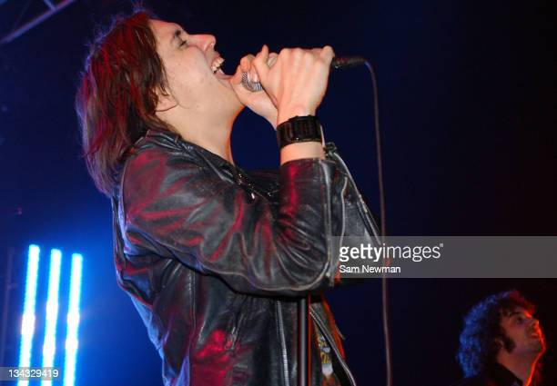 Julian Casablancas of The Strokes during The Strokes in Concert at Shepherds Bush Empire in London January 24 2006 at Shepherds Bush Empire in London...