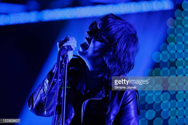 Julian Casablancas of The Strokes performs live on the Main Stage during day two of Reading Festival 2011 on August 27 2011 in Reading England