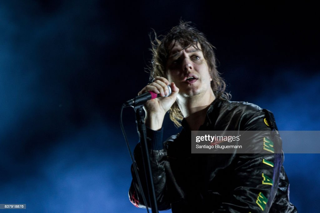 Julian Casablancas of The Strokes performs on stage during day 2 as part of Lollapalooza Argentina at Hipodromo de San Isidro on April 01, 2017 in San Isidro, Argentina.