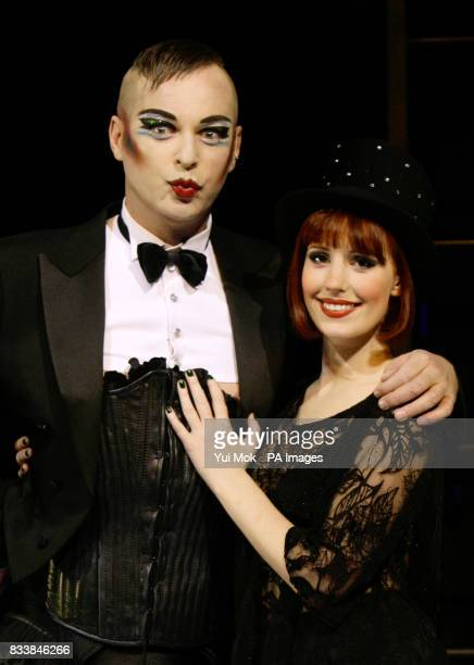 Julian Clary and Amy Nuttall during a photocall for the musical Cabaret at the Lyric Theatre in central London