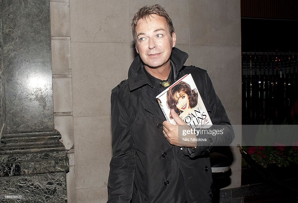 Julian Clary is sighted leaving the Westbury Hotel, Mayfair on October 21, 2013 in London, England.