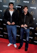 Julian Contreras and Cayetano Rivera attend 'Torrente 4' premiere at Capitol Cinema on March 9 2011 in Madrid Spain