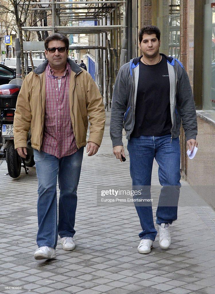 Julian Contreras and Julian Contreras Jr Sighting In Madrid - March 10, 2013