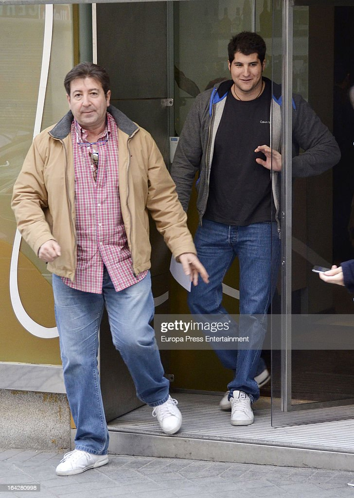 Julian Contreras and his son Julian Contreras Jr are seen on March 10 2013 in Madrid Spain