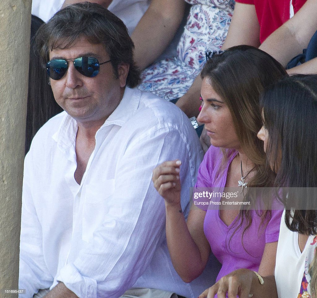 Julian Contreras (L) and Lourdes Montes (2L) attend the 'Goyesca' Bullfights on September 8, 2012 in Ronda, Spain. The bullfight events, linked to The Feria Goyesca (Feria de Pedro Romero), stem from the inter-relationship of three main personae which spanned over three centuries, all of whom have strong connections to Ronda. These are the famous 18th century bullfighter, Pedro Romero; the 18th century Spanish painter, Francisco de la Goya; and also the 20th century bullfighter, Antonio Ordonez, to whom the vision of the Ronda's modern Feria Goyesca can be attributed.