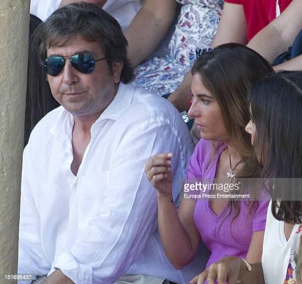 Julian Contreras and Lourdes Montes attend the 'Goyesca' Bullfights on September 8 2012 in Ronda Spain The bullfight events linked to The Feria...