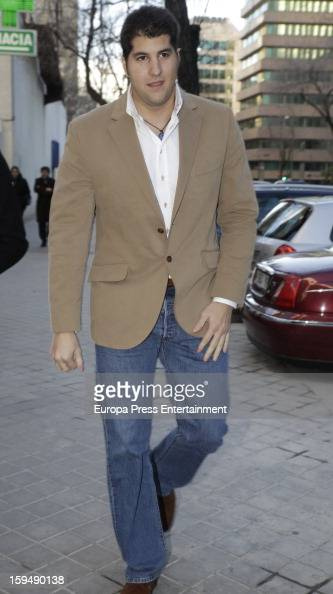 Julian Contreras attends court on January 14 2013 in Madrid Spain The bullfighter Francisco Rivera and ex wife Duchess of Montoro Eugenia Martinez de...