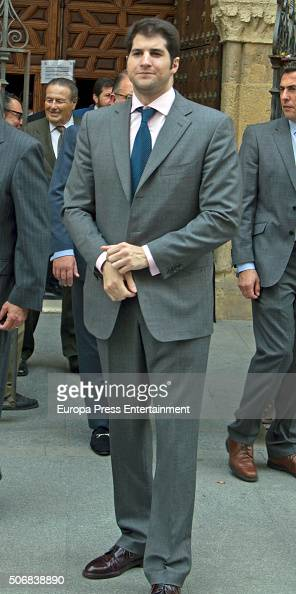 Julian Contreras attends the christening of Fran Rivera and Lourdes Montes's daughter Carmen Rivera on October 23 2015 in Seville Spain